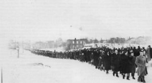 When Liberal Premier Mitch Hepburn sent the OPP to crush the Kirkland Lake gold miners strike, hundreds of women and children marched in protest.