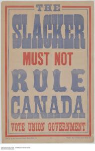 Pro-conscription election poster, 1917