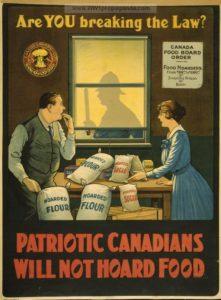 Anti-hoarding propaganda from the First World War