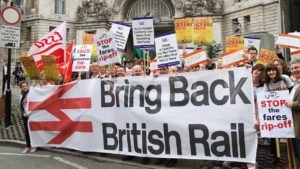The demand for re-nationalizating British Rail has huge support.
