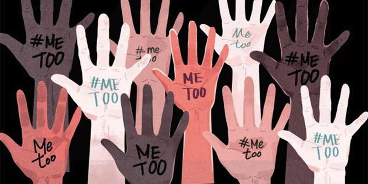 Illustration of hands with Me Too written on them